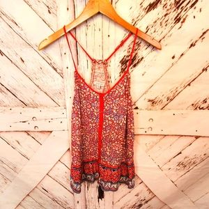 AEO Floral Tank Top XS